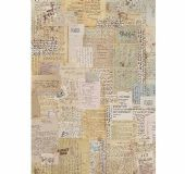 Stamperia A4 Rice Paper - Background Notes - DFSA4376